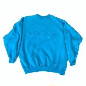 Vintage Oscar De La Renta Blue Jumper Sweater XL